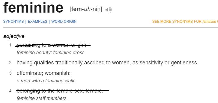 Feminine definition