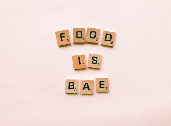 food is bae wooden decor